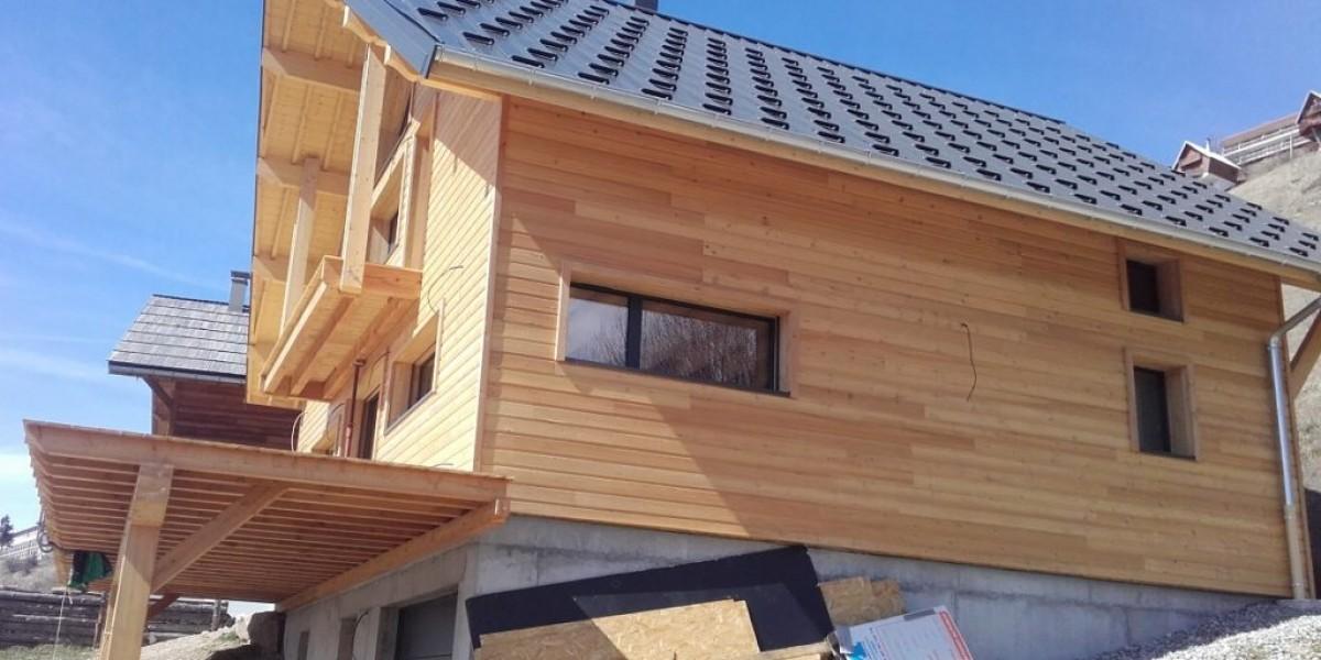 construction neuve orcieres charpente bois couverture bac acier amc